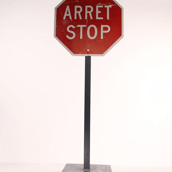 Picture of Panneau Stop Sur pied