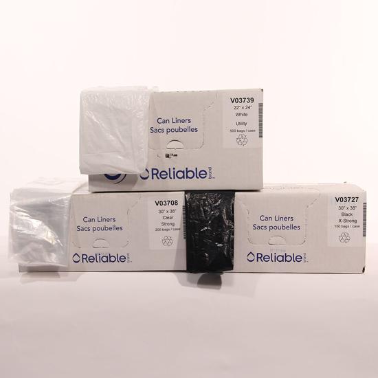 Picture of Sac poubelle blanc 22 x 24 paquet de 500